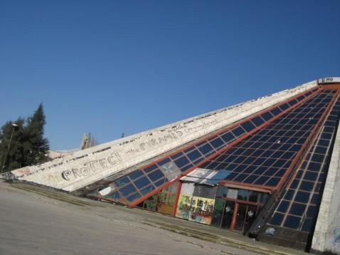 The Pyramid of Enver Hoxha in Tirana, Albania